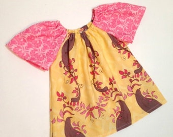 SALE Girls Peasant Top Flutter Sleeves Size 2T Ready to Ship