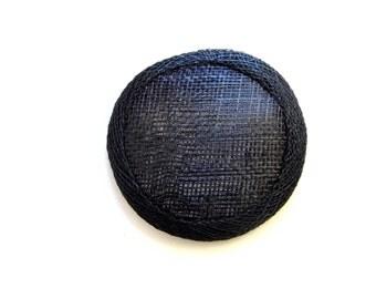 Mini Sinamay Fascinator Base - Black