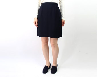 VINTAGE Navy Pencil Skirt Short