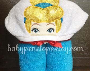 Cinderella Princess Hooded Towel