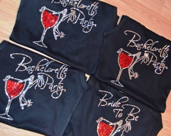 Bachelorette Party half lace tank top with red wine glass and shoe. Bridesmaid tank tops. Bridal Party Tanks. Bachelorette Drinking shirts