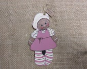 Gingerbread Girl Wood Christmas Ornament