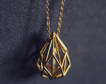 Geometric Teardrop Necklace
