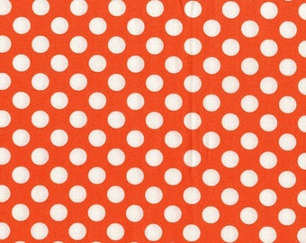 Michael Miller Fabric - 1 Yard Tangerine Ta Dot