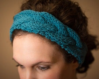 Hand knit head band