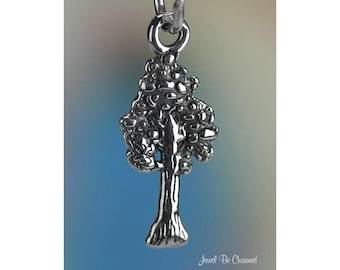 Sterling Silver Sequoia Charm Giant Sequoias Redwood Trees Solid .925