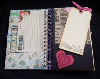 Junk/junque journal - RECIPE BOOK- Junk-Junque-Smash Style book- style -- OOAK --- One of a kind (1)