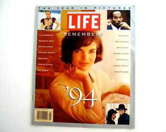 Magazine Year in Pictures Collector's Edition Life Remembers '94, retro stories, Jacqueline Kennedy Onassis, Richard Nixon, gay rights, wars