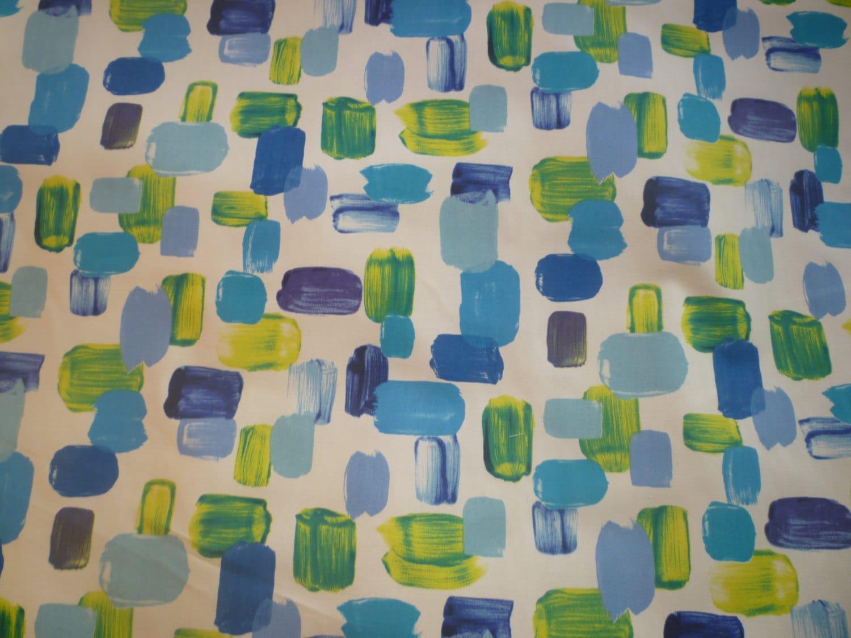 Aqua Blue Curtain Valance Lime Green Funky Cafe Curtain Camper
