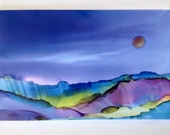Desert Splendor- 5x7 blank card with matching envelope