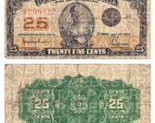 1920s Canada Canadian Cent Currency Money Bill. 9.25 x 10.25. Antique Digital Paper Scrapbooking Supplies Instant Download. High Resolution