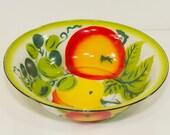Large Vintage Enamel Bowl