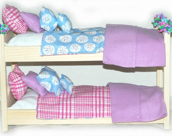 Double Doll Bunk Bed - Beachy Sand Dollar American Girl Furniture - Fits 18 inch dolls and AG dolls