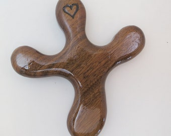 Medium Sized Walnut Palm Cross