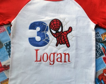 Personalized Boutique Spider Guy Shirt