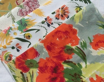 Bundle Vintage 1930s Charleston Farmhouse Fabric Art Deco Cottage Floral Textiles Bloomsbury Set