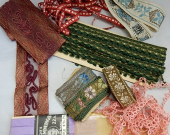 Nice Mixed Lot of Vintage Woven &  Lace Trim