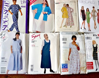 18 Sewing Patterns Simplicity, Butterick, McCall's Destash Patterns Bulk Lot B  Sizes 8 to 24 Multi-Sized