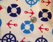 Sailor Themed Flannel Fabric