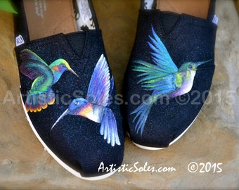 Hummingbird Themed Custom TOMS Shoes - TOES ONLY!