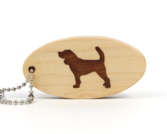 Beagle Key Chain Wood Dog Key Chain Pet Key Fob Dog Breed Key Ring Wooden Beagle Key Ring Scroll Saw Dog Key Chain