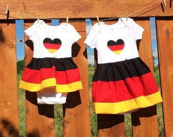 German flag baby dress