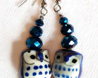 Midnight Owl Earrings