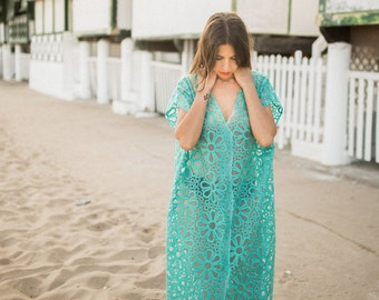 Embroidered organza caftan, luxurious maxi  dress, unique size dress, caftan dress, tunic, oversize dress, summer gown.