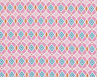 Dena Designs - Geo in Pink - Happi - cotton quilting fabric - BTY