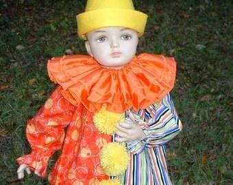 C004   Bright & Colorful CHEERIOOS  Clown Halloween Costume Children's Sizes