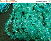 50% ON SALE Blue Apatite Beads, Faceted Blue Apatite, Aaa Gems, Tear Drop Beads, Wholesale Price, 4x6mm - 5x7mm  Ea