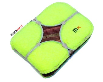 Handmade Recycled Tennis Ball Credit Card/Business Card Folding Wallet