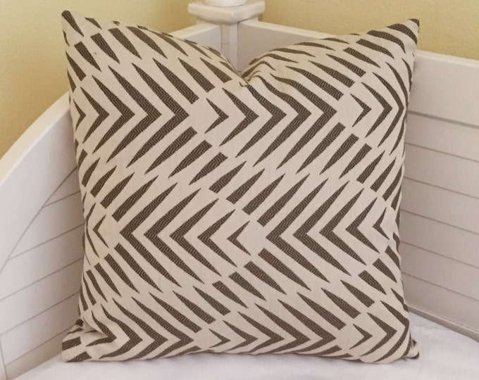LABOR DAY SALE, Dwell Studio Palmwood in Birch (on Both Sides) Indoor Outdoor Pillow Cover - 20x20