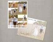 "Wedding Thank You Cards, Thank you postcards, collage cards, Vintage card - the ""Roberta 3"""