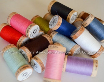 Bulk Order - Organic Scanfil Cotton Thread - choose any 5 Spools - 300 Yards each spool
