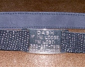 Leather Custom Tag Collar for Greyhounds - Starry Night