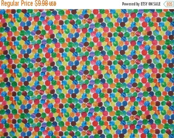 ON SALE Very Hungry Caterpillar Allover Dot Print Pure Cotton Fabric--One Yard