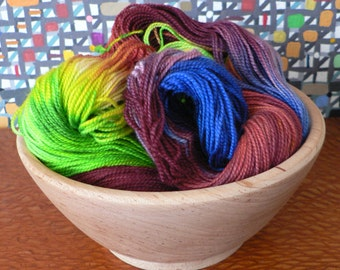Tight Twist Handpainted Fingering Weight Superwash Merino Cashmere Nylon Sock Yarn-Paradise 400 yards