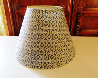 Vintage Original Pierre Deux Lampshade, French Country Decor, Blue and White Lampshade, French Lampshade