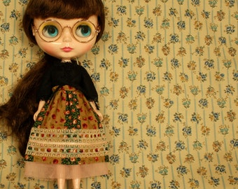 MIXED EMOTIONS Vintage Inspired Patchwork Skirt for Neo Blythe
