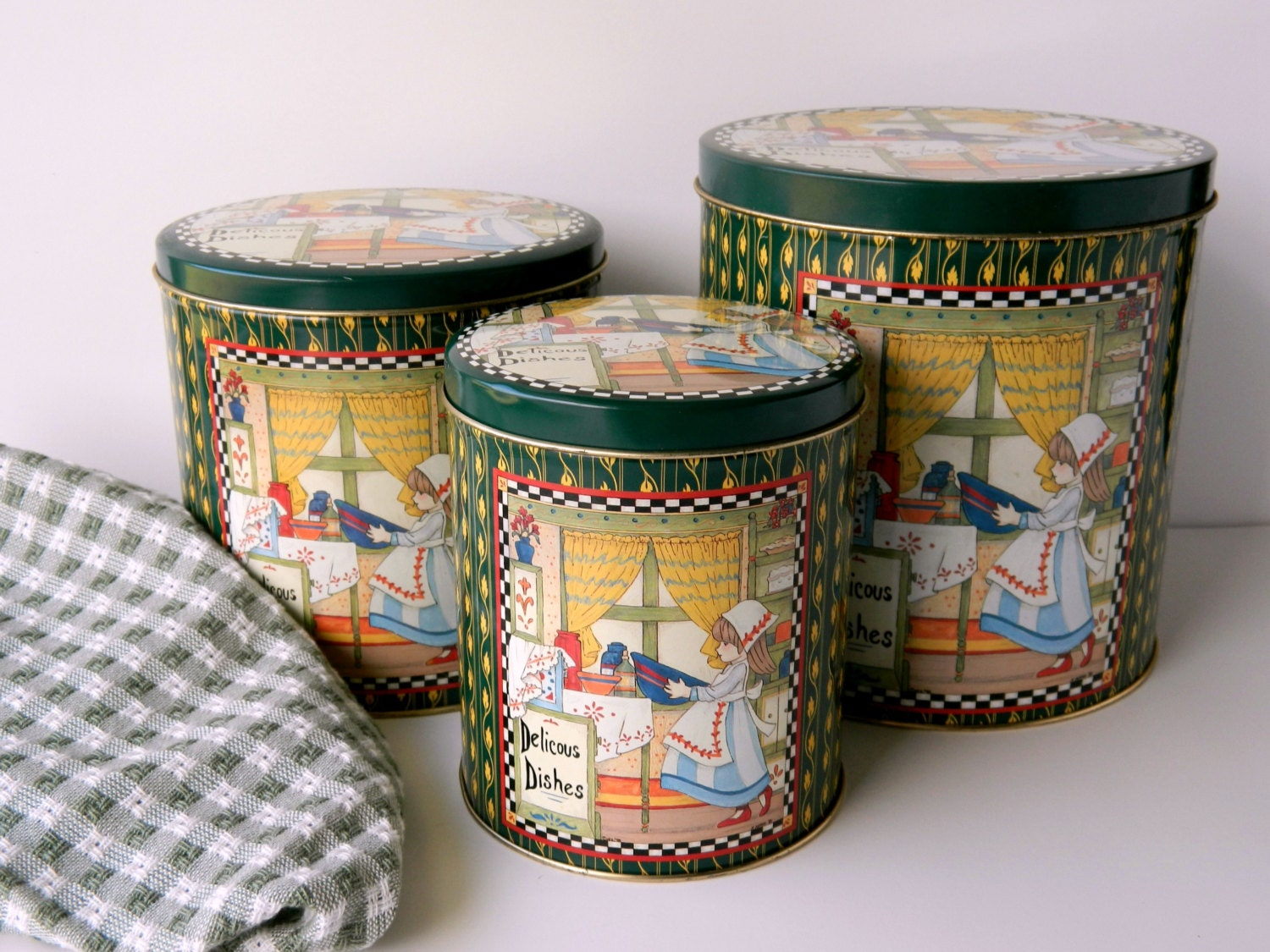 decorative kitchen canister sets metal canister set decorative tins kitchen by missmagpiesshoppe 3577