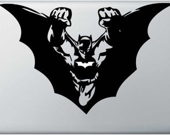Batman macbook decal, DC macbook decal, DC macbook vinyl decal, Batman wall decal, macbook pro superhero decal, I Pad vinyl decal