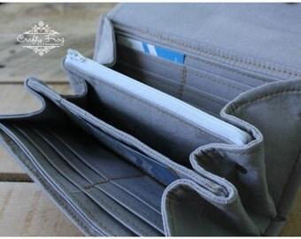Grey Accordion Wallet - wallet - Clutch - accordion Wallet - Wallet - Boutique