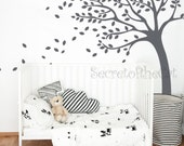 Tree Wall Decal - Wall Decals Nursery - Tree decal - Baby Tree Wall Decal - Blowing Tree Decal - Nursery decals