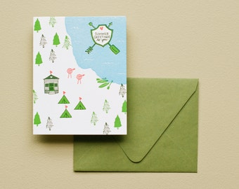 Letterpress Card - Summer Greetings