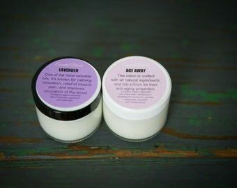 Organic Essenial Oil Lotions, age defying lotion, relaxation