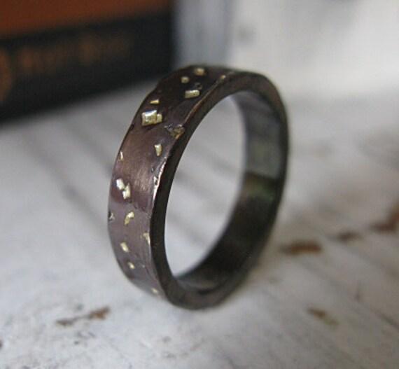 man wedding band man wedding ring starry night ring silver mens wedding band oxidized silver 18k - Man Wedding Ring