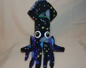 Buzz the Galactic Fleece Squid Plush Stuffed Ocean Marine Animal