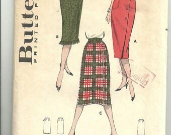 Wrap Skirt Sewing Pattern, Butterick 8638 Waist 24 1/2