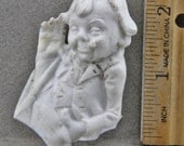 Vintage Antique Excavated German  Porcelain Doll Character Man Smoking Cigar Leering Man 1860-1900 Oscarcrow